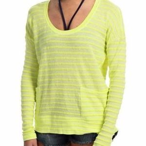 NWT!!! Roxy SURFSIDE Women's Yellow Long Sleeve To